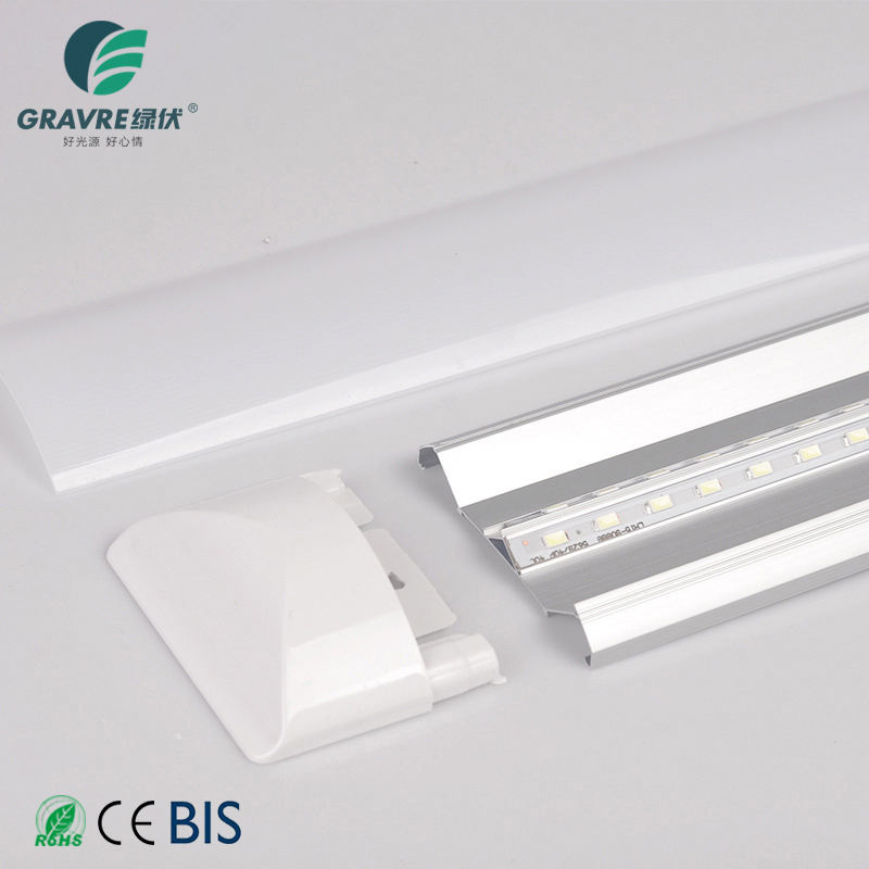 New Design Lighting Led Batten Integrated Tube Lamp 2ft 18w 24w 36w Aluminum Ce ROHS Lighting and Circuitry Design SASO 2-year