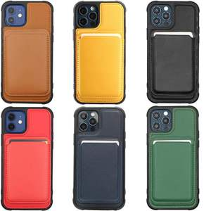 Newest Magnetic Phone Holder Case for iPhone 12 SE 2021 Support Wireless Charging PU Leather Magnet Phone Case for iPhone 12