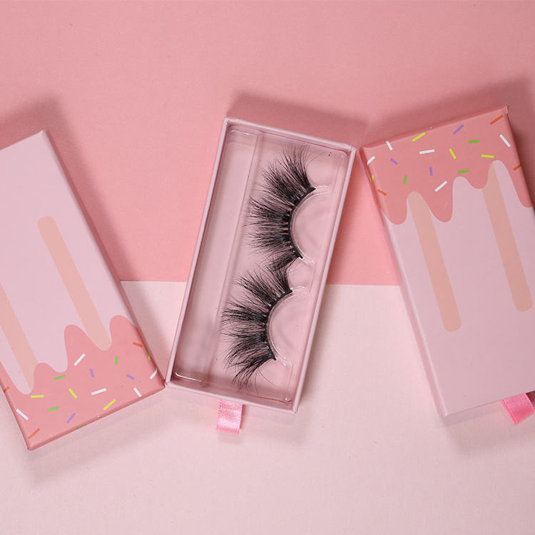 25mm 3d Real Mink false private label eyelashes eye lashes high quality eyelash personalized packaging