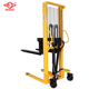 Buy discount Portable Certified 2 ton manual hand pallet truck hydraulic forklift Stacker with Adjustable Forks