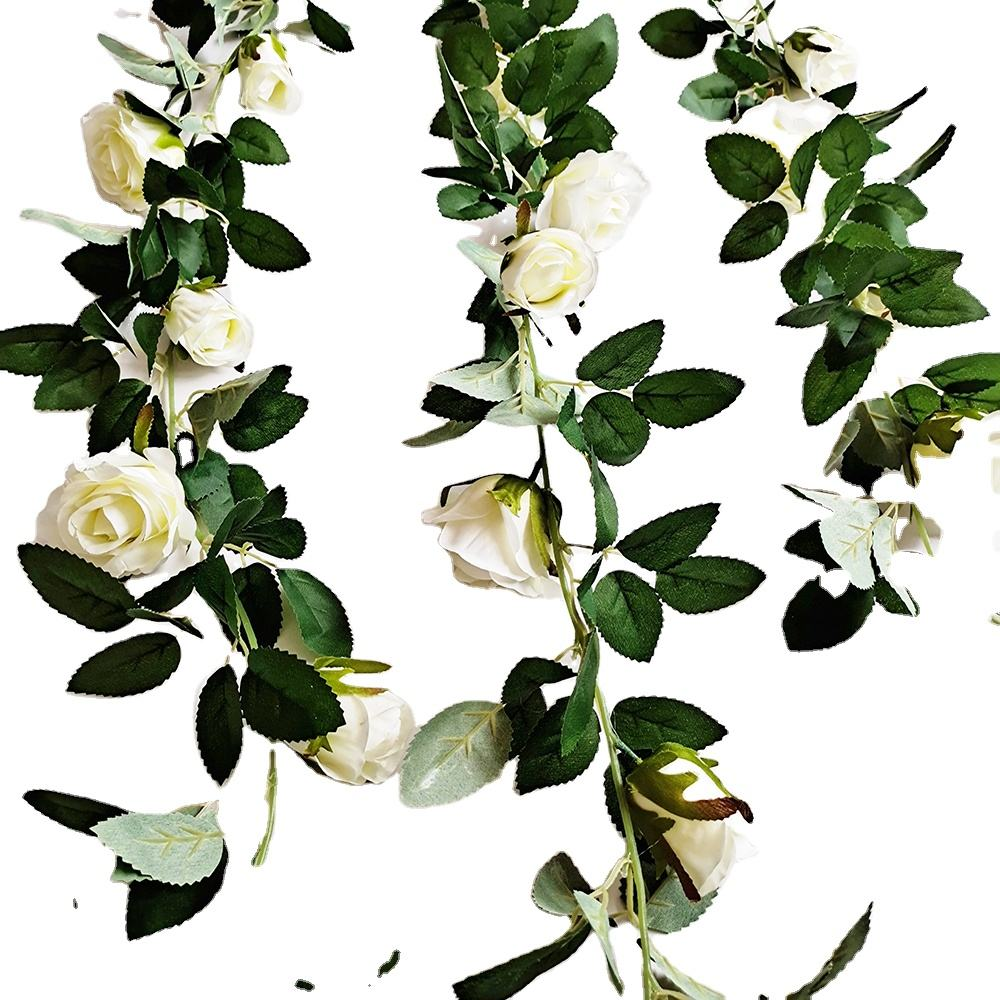 Fake Hanging Plants Rose Floral Garland for Home Wedding Arch Ceremony Wall