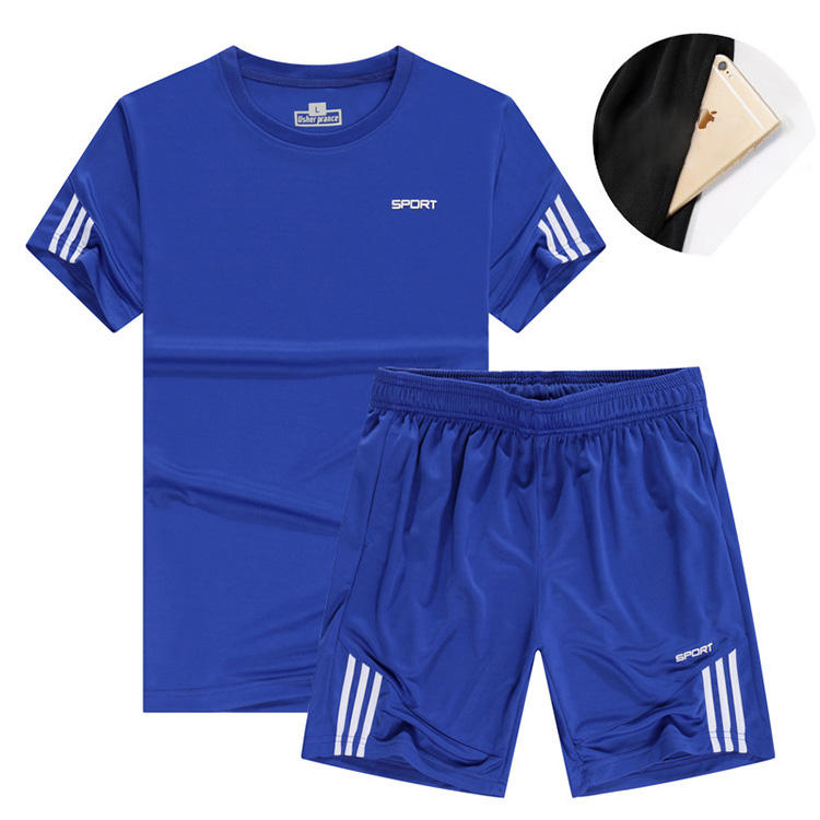 Supply fitness clothing sportswear casual running soccer wear quick drying breathable soccer wear with pocket