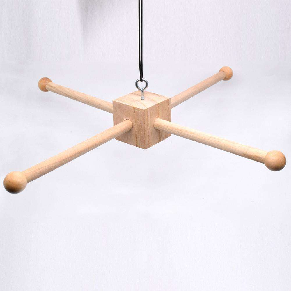 DIY Wood Baby Crib Mobiles Accessories Hanger Cross Natural Wooden Frame Mobile Hanger