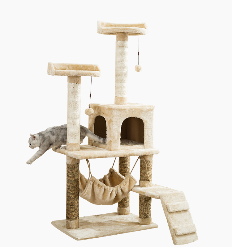 Multi-layer platform Good Material Pet Cat Scratching Tree House Tower