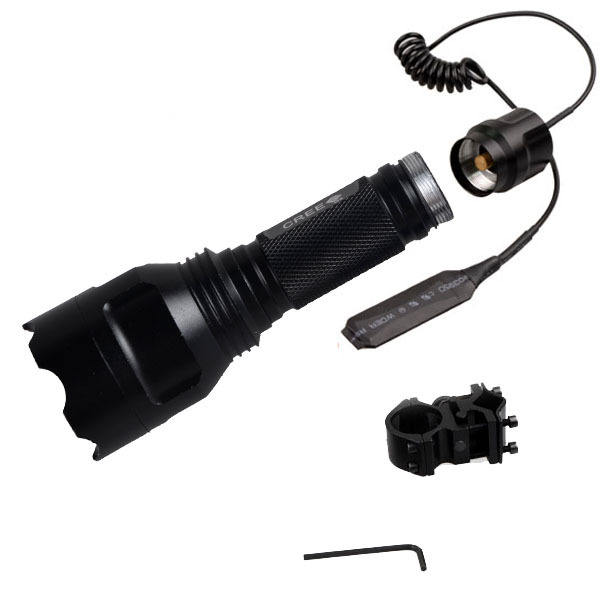 explosion proof 10w aluminum alloy 18650 battery powered tactical guns holder flashlight for camping