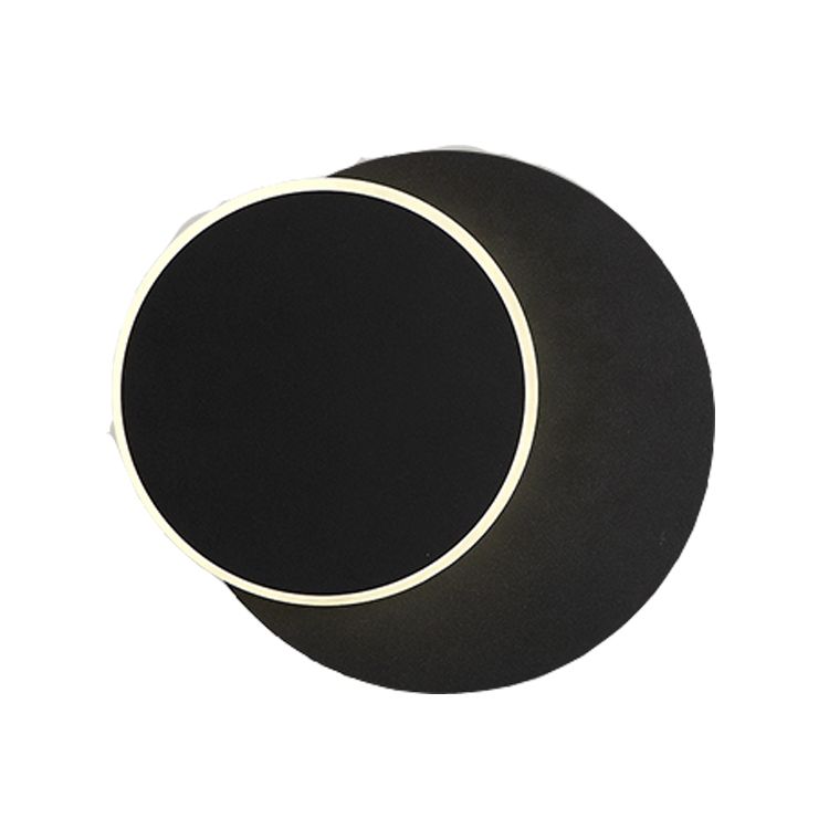 Hotel living room rotatable round moon square black white gold acrylic metal wood led bedside wall lamps light