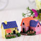Xmas Gift Handmade Newest design mini colorful house village resin figurines