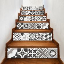 Custom easy peel off removable stairs floor decoration stickers