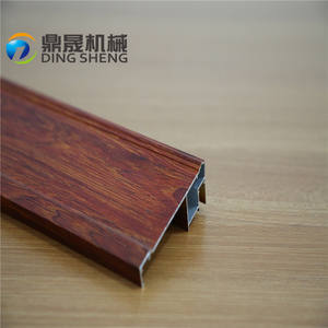 Well structured and nice colored wooden aluminum profile