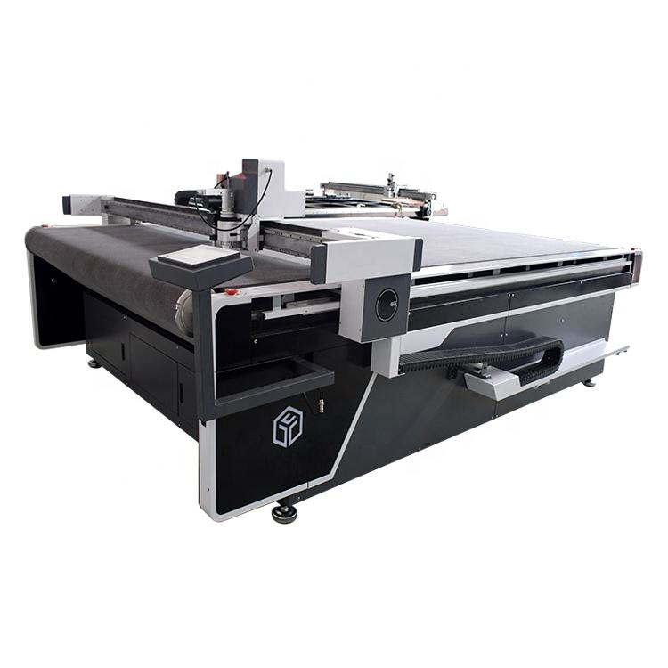 Factory direct supplier PU artificial leather sofa cutter machine by vibrating knife