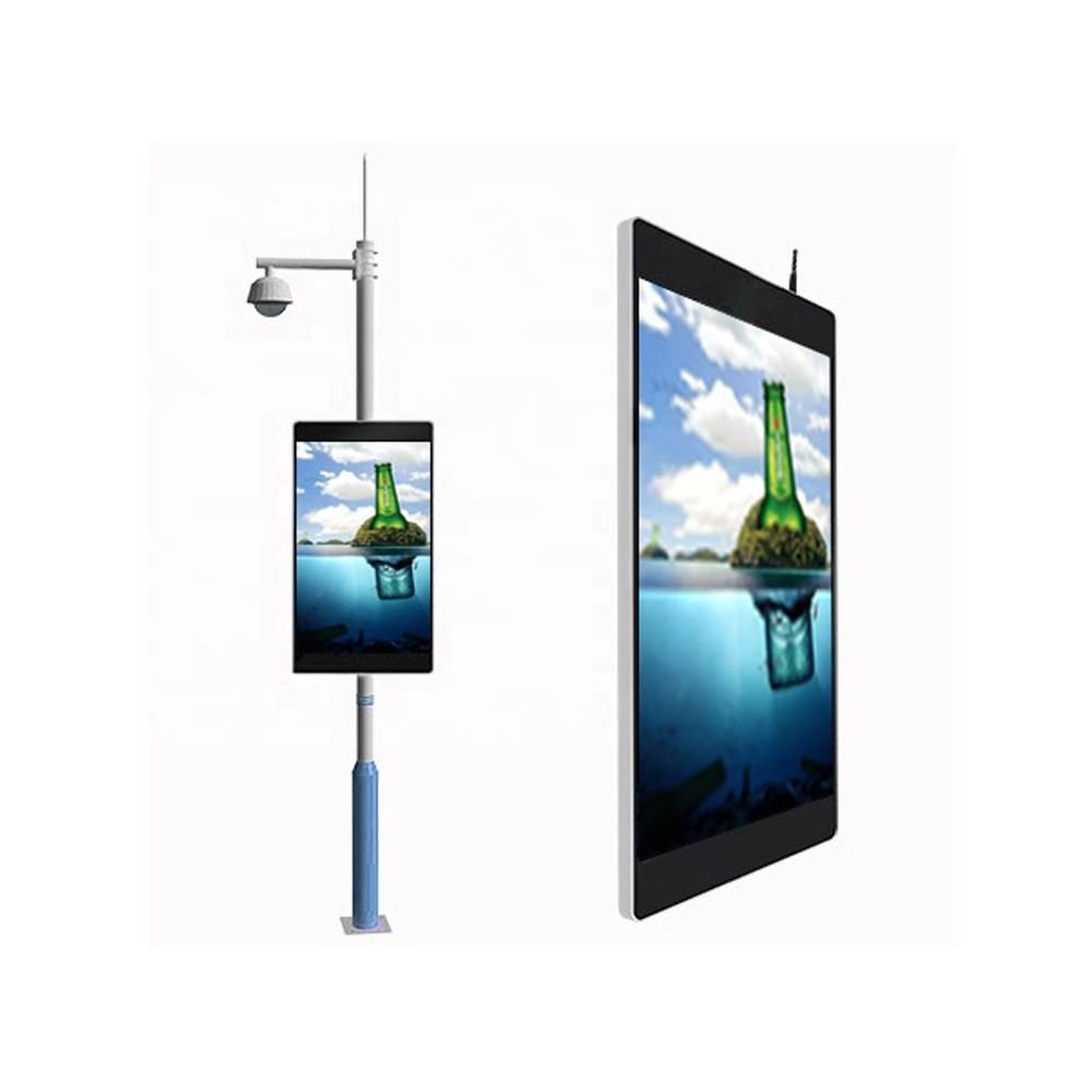 High quality P6 WIFI 3G 4G Outdoor street lighting pole advertising display led screen
