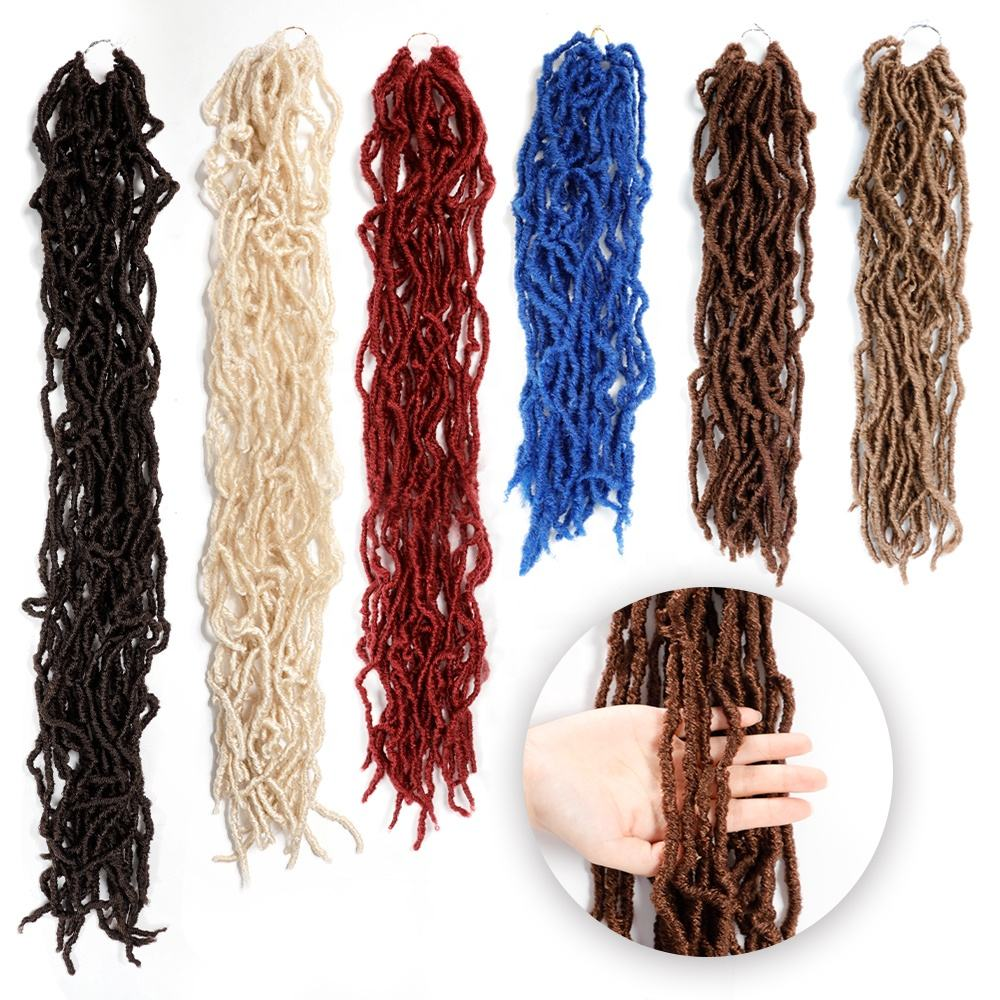 Smart Braid Crochet Hair Extension Wholesale Synthetic Hair Mermaid 18 Inch Most Natural Nu locs