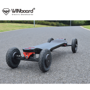 WINboard new AT boards with customized hub motor 40kmh speed drop deck 14AH battery electric skateboard OEM factory wholesale