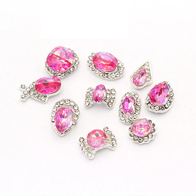 DIY High Quality Gem Glass K9 Diamond 3d Nail Art Rhinestones 3D Nail Art Metal Sticker For Nail