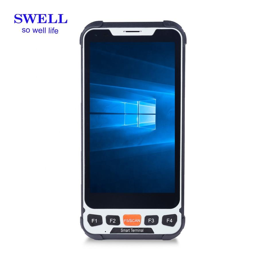 remote terminal unit handheld rugged phone with barcode scanner 5.5inch with high resolution pixels