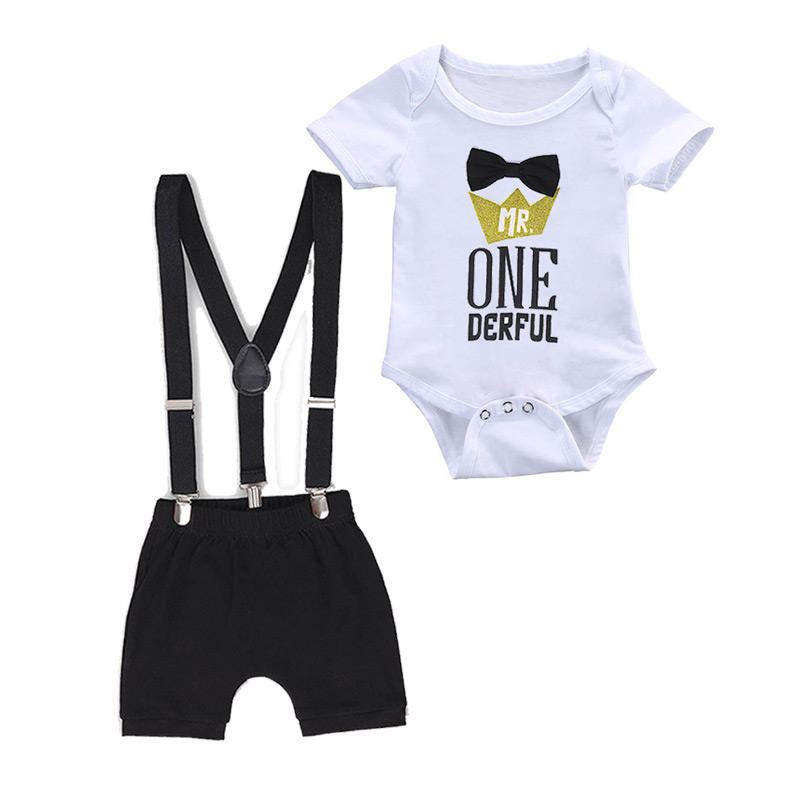 DGRT-015 Amazon Top Seller 2020 Baby Boy Ein Jahr alt Cake Smash Outfit Baby Outfit Set Boy