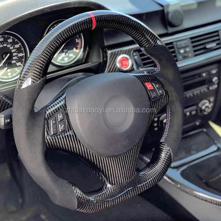 Real Carbon Fiber Steering Wheel For BMW E90 E92 E93 /Available For All Car Models