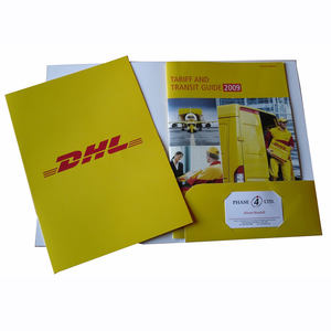 Custom printing luxury embossing document A4 paper file presentation folder with pocket