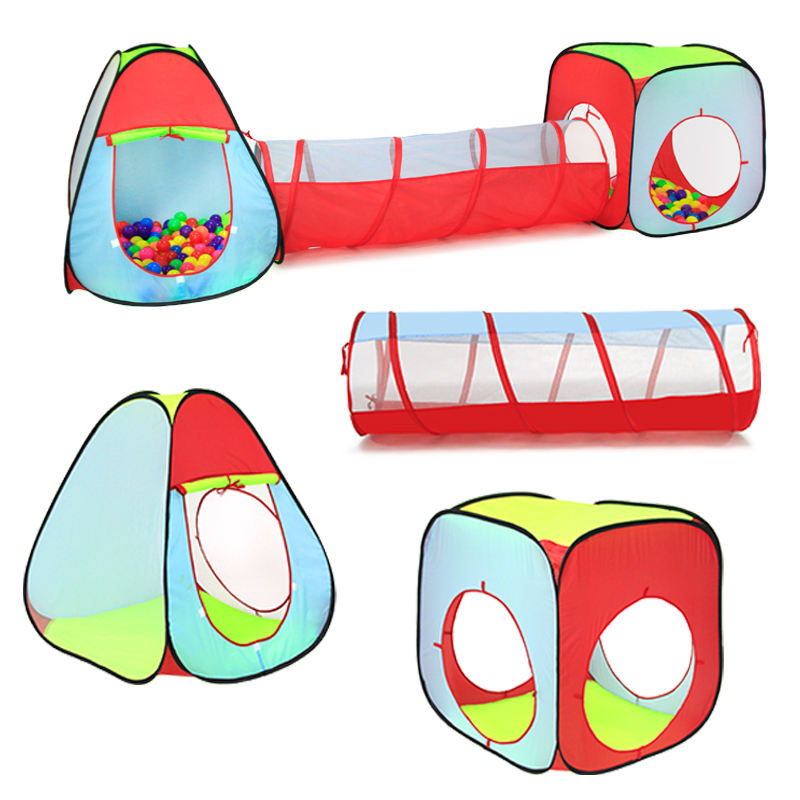 Pop Up Kids Tent Tunnel Met Bal Pit Indoor Tent Spelen Tent