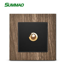 Custom Logo OEM Wall Switch Socket Wood Grain Brand Newest Style Wall Sockets And Switches 1 Gang