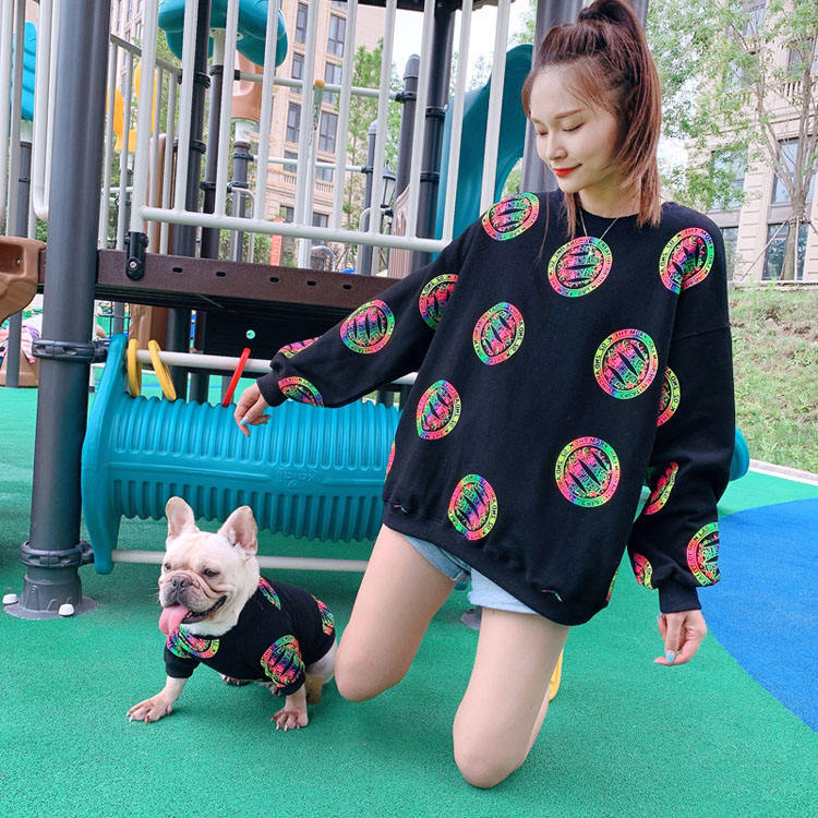 2020 New Spring Pet Clothes Cool Blink Matching Pet and Owner Dog Clothes for Puppy Dogs Cats
