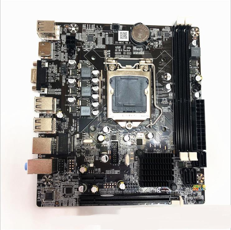 H61 motherboard 1155 pin DDR3 supports dual core / quad core I3 i5 CPU