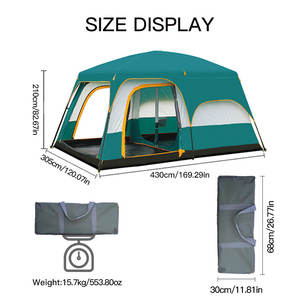 Jasslife 8 person large big carpas barraca tenda glamping tents camping outdoor luxury yurt family