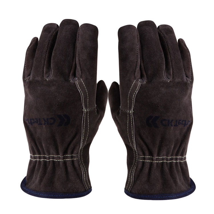 Professional Wear-Resistant Electric Welder Thickened High Temperature Labor Protection Cowhide Gloves heat insulat