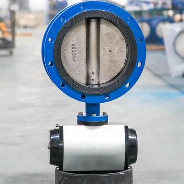 ductile iron pneumatic actuator flange butterfly valve price list