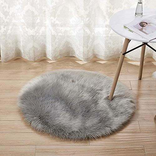 Custom Large Fake Soft Fluffy Cheap Round Faux Babbit Round Fur Area Rug