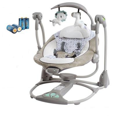 Folding infant Baby Rocker and Bouncer with small toys Electric Cradle Swing