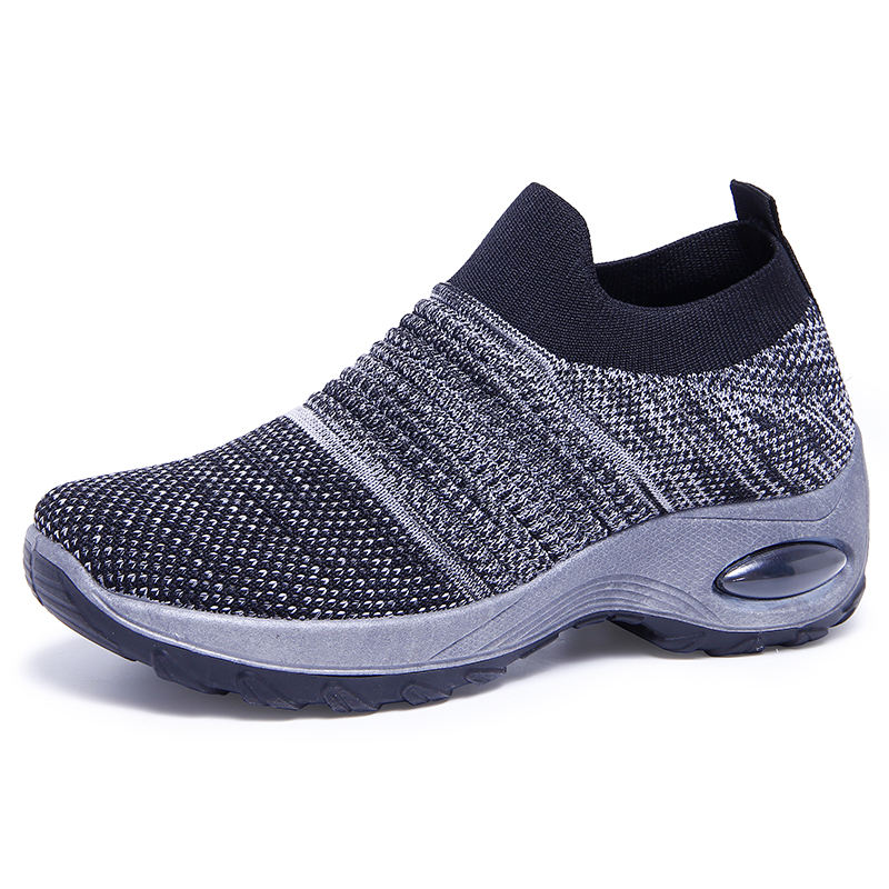 New ladies breathable and comfortable sneakers fashion fly knit sneakers wholesale