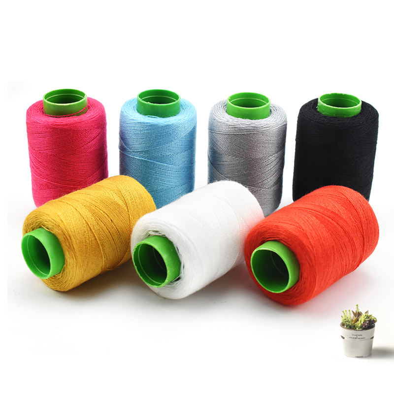 High quality Colourful Polyester cotton sewing thread hilos de coser High strength machine embroidery thread