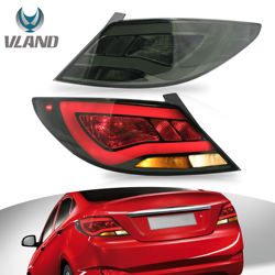 VLAND Tail lights Assembly Fit for 2012-2014 Hyundai Accent, Plug-and-play,Smoked