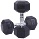 Gym Equipment High Quality Fitness Dumbbell Weightlifting Gym Dumbbell Rubber Hexagonal Dumbbell Set Fitness Equipment