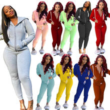 10 Colors Two Piece Set Women Tracksuit Festival Clothing Fall Winter Top + Pant Sweat Suit 2 Pieces Outfits Hoodies Sweatshirt