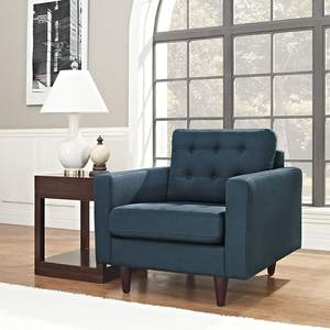 Modern Design Upholstered Line Fabric Tufted Accent Armchair For Living Room Furniture