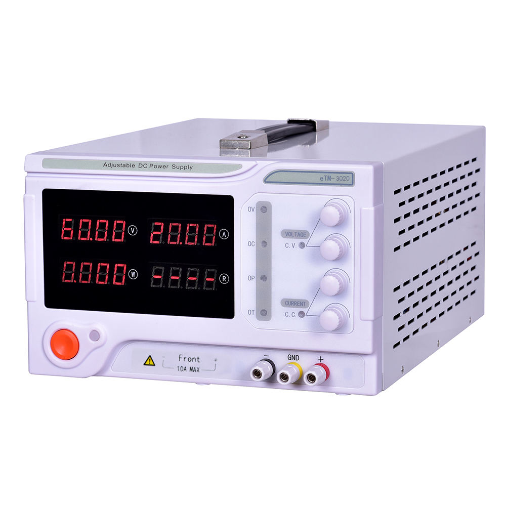 จีน LXMOR โรงงาน eTM-3020 600W 4-Bit Precision เดสก์ท็อป SINGLE Channel Switching Power Supply 30V 20A