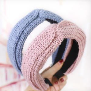 Korean Styling Bezel Fashion Women Knitted Hairband Headband Women Lady Elegant Cross Stripes Hair Accessories For Female Girls
