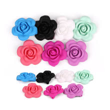 New Baby Products Custom Silicone Teeeting Flower Shape Beads
