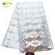 high quality custom indian polyester voile embroidered lace fabric