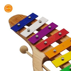 Professional Supplier Colorful Wooden Hand Piano Xylophone  Eight-tone Educational Wooden Toy Xylophone