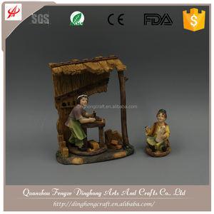 خاص اليدوية الدينية بوليريسين المهد المشهد المهد الخزف البند
