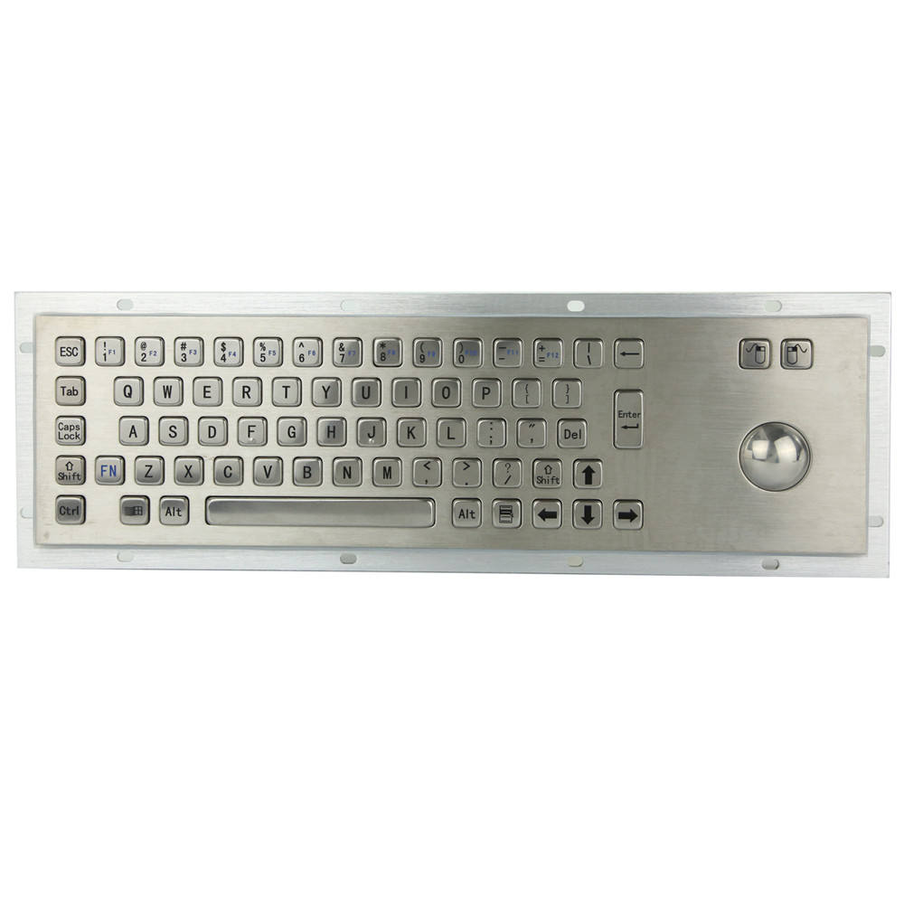 IP65 vandal proof industrielle tastatur ist gebaut von <span class=keywords><strong>38mm</strong></span> edelstahl <span class=keywords><strong>trackball</strong></span>