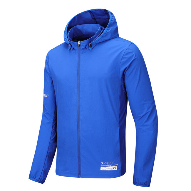 Outerwear men's clothing spring 2020 new woven hooded blazer breathable sports training fitness jacket