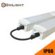 TUV SAA 1.5m 50w 7500lm 4000K ip65 tri proof led light vapor tight light fixture with 0.5m cables