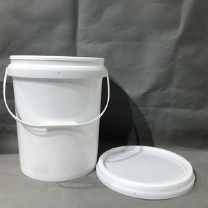 Multi-purpose Food Grade 19l White Plastic Bucket With Handle And Lid
