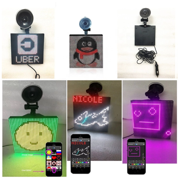 LED emoji auto <span class=keywords><strong>taxi</strong></span> Bluetooth handy LED moving <span class=keywords><strong>nachricht</strong></span> oder gif. Jpg, ziehen DIY kunden logo led shop zeichen