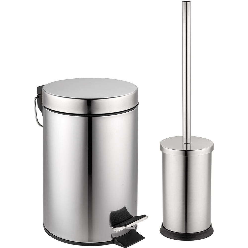 Hot selling stainless steel dust bin powder coating metal trash can