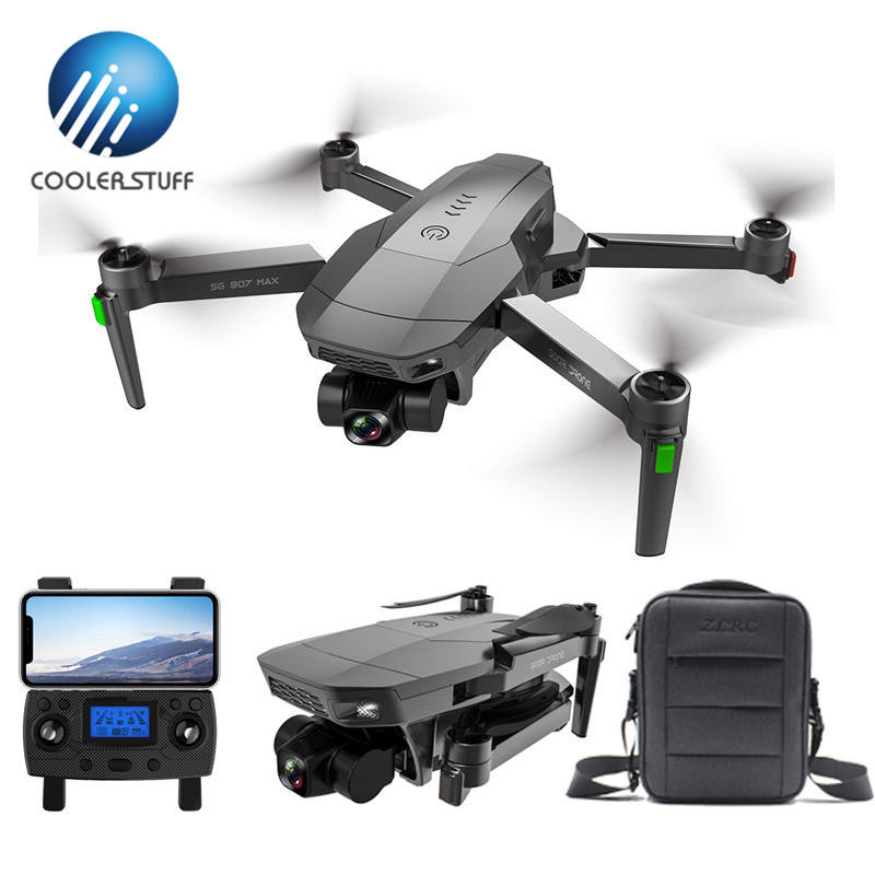 Coolerstuff ZLRC SG907 MAX 4k dron with 3 axis gimbal brushless drone quadcopter 25 mins flight time dron 4k dual cam aircraft